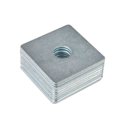 Fixman 542862 Galvanised Steel Square Plate Washers 10 Pack M12 x 50mm